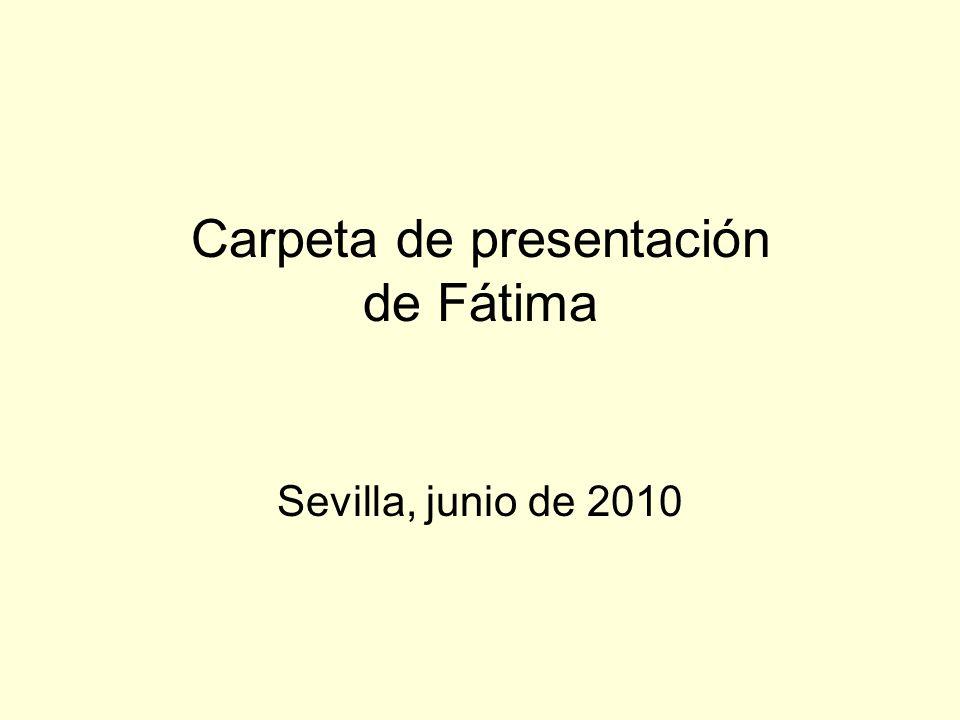 Carpeta de presentación de Fátima