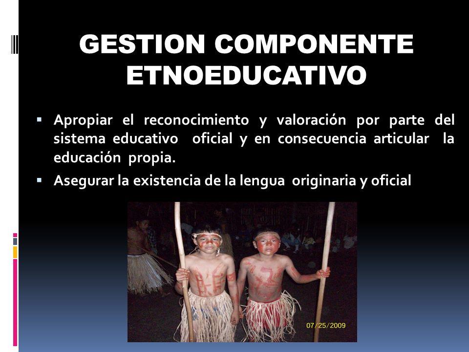 GESTION COMPONENTE ETNOEDUCATIVO