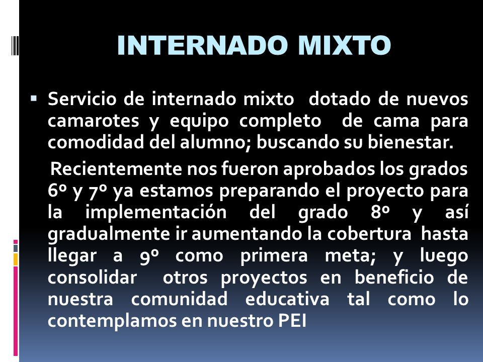 INTERNADO MIXTO
