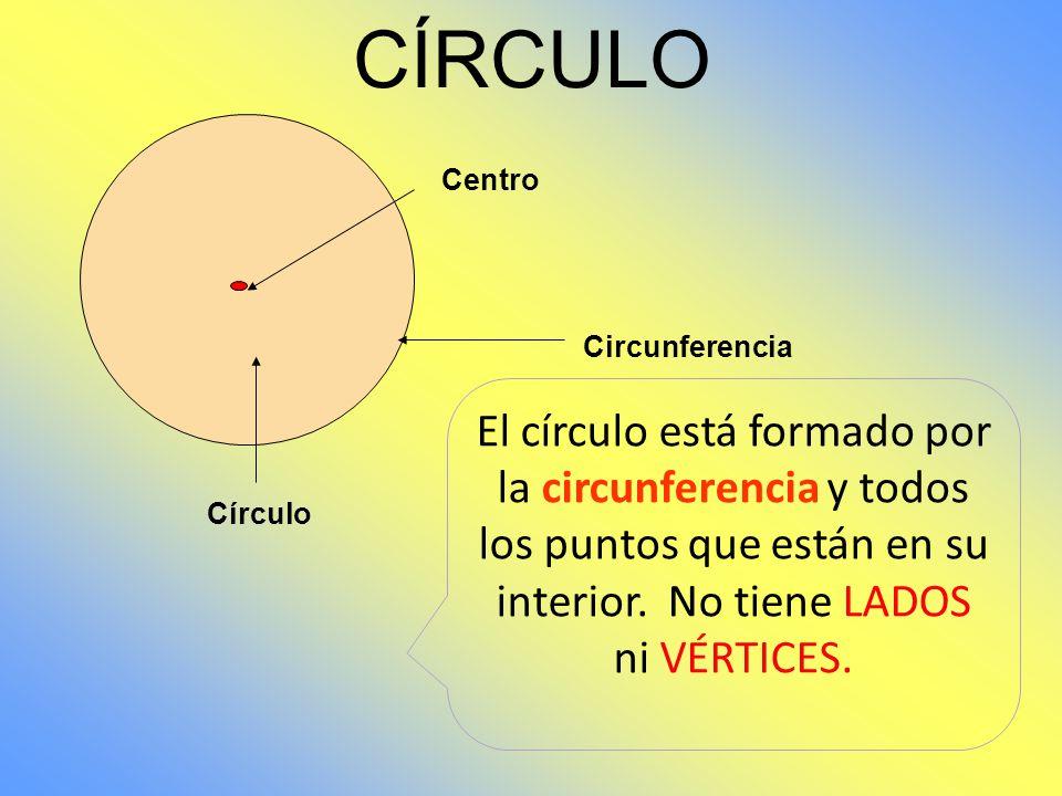 CÍRCULO Centro. Circunferencia.