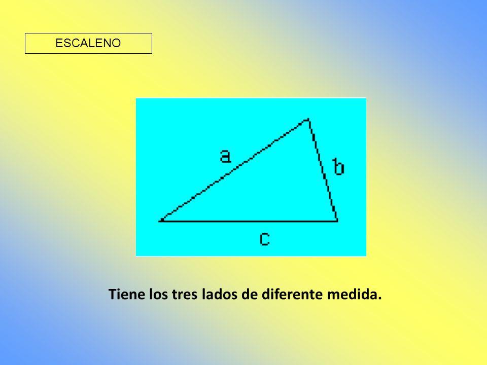 Tiene los tres lados de diferente medida.
