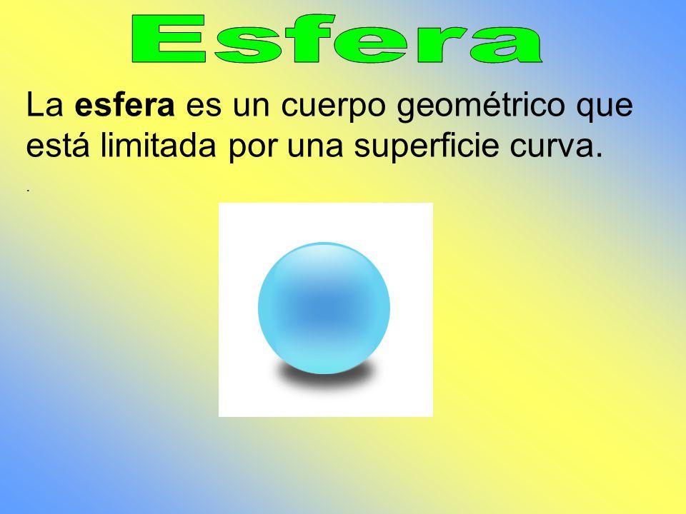 Esfera La esfera es un cuerpo geométrico que está limitada por una superficie curva. .