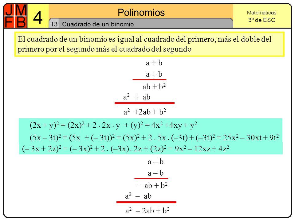 (2x + y)2 = (2x)2 + 2 . 2x . y + (y)2 = 4x2 +4xy + y2