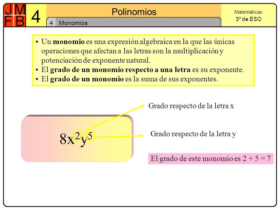 4 Monomios.
