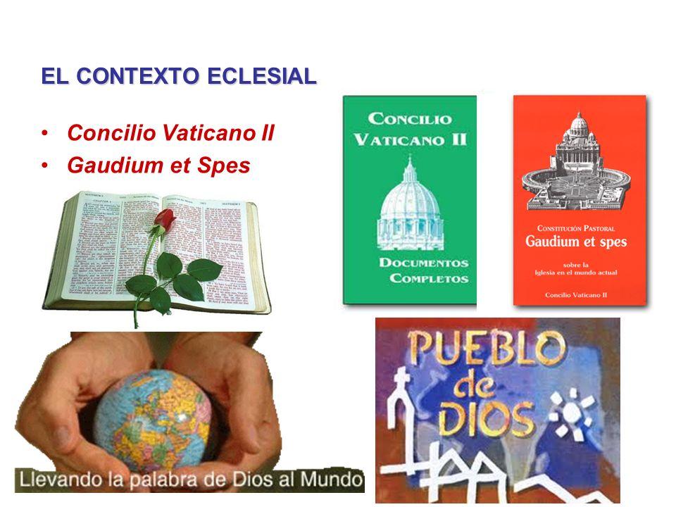 EL CONTEXTO ECLESIAL Concilio Vaticano II Gaudium et Spes