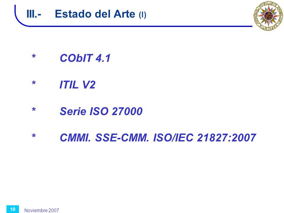 III.- Estado del Arte (I)