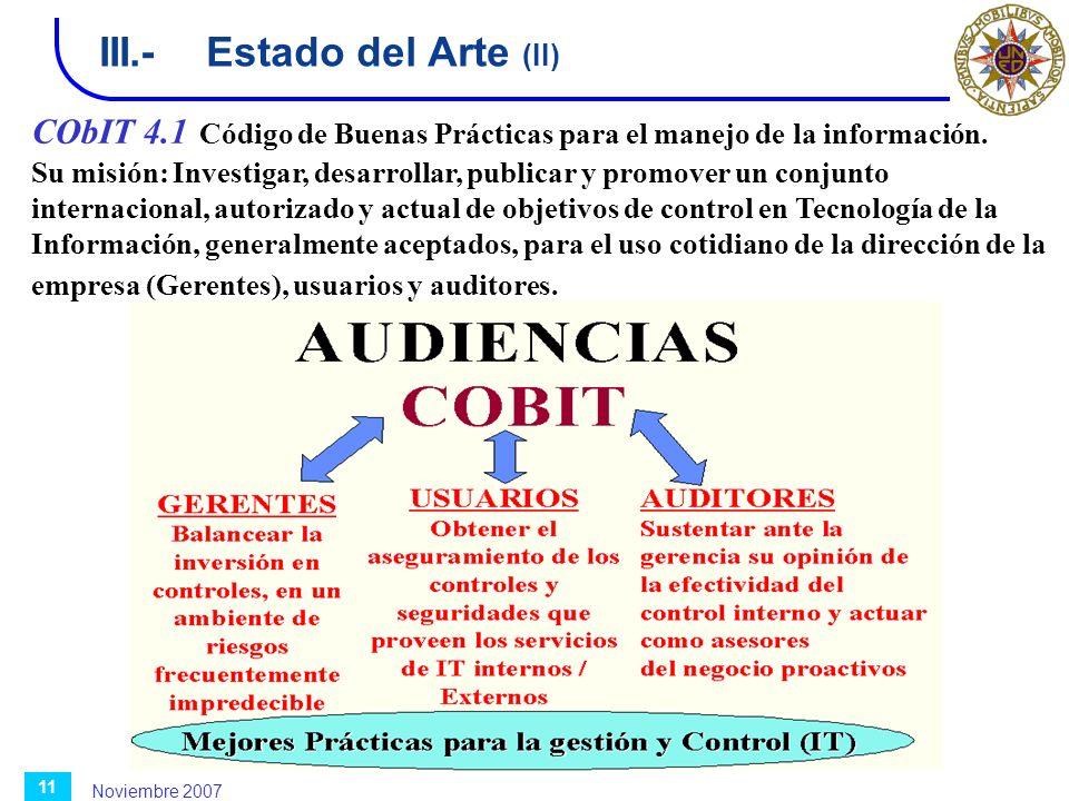 III.- Estado del Arte (II)