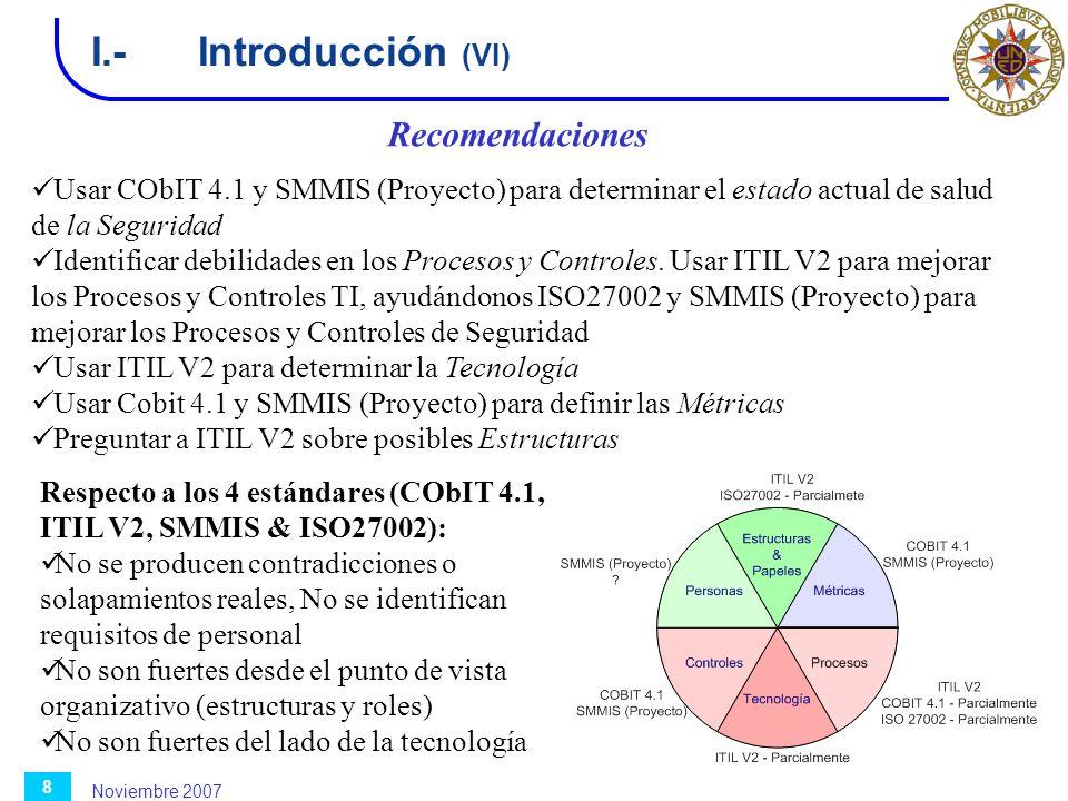 I.- Introducción (VI) Recomendaciones