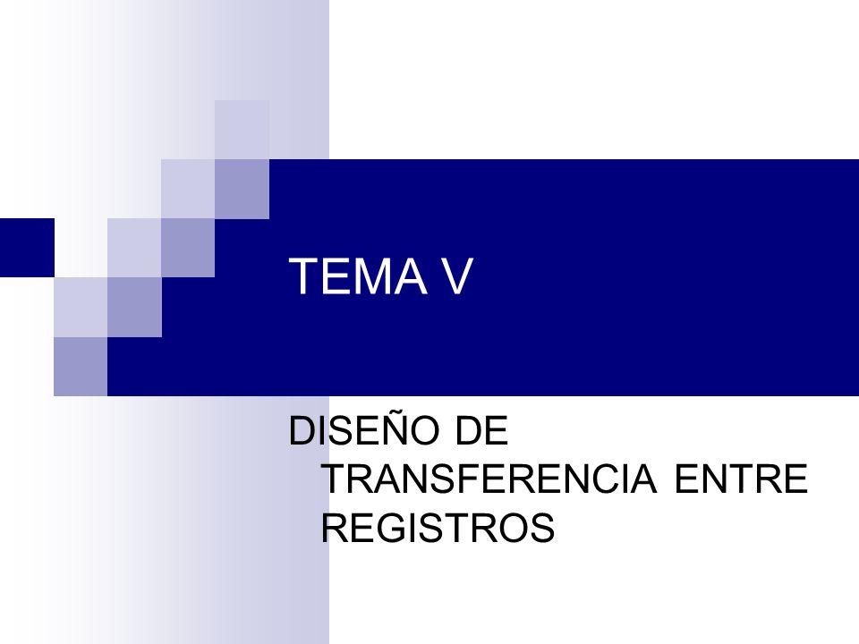 DISEÑO DE TRANSFERENCIA ENTRE REGISTROS