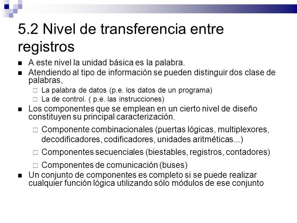 5.2 Nivel de transferencia entre registros