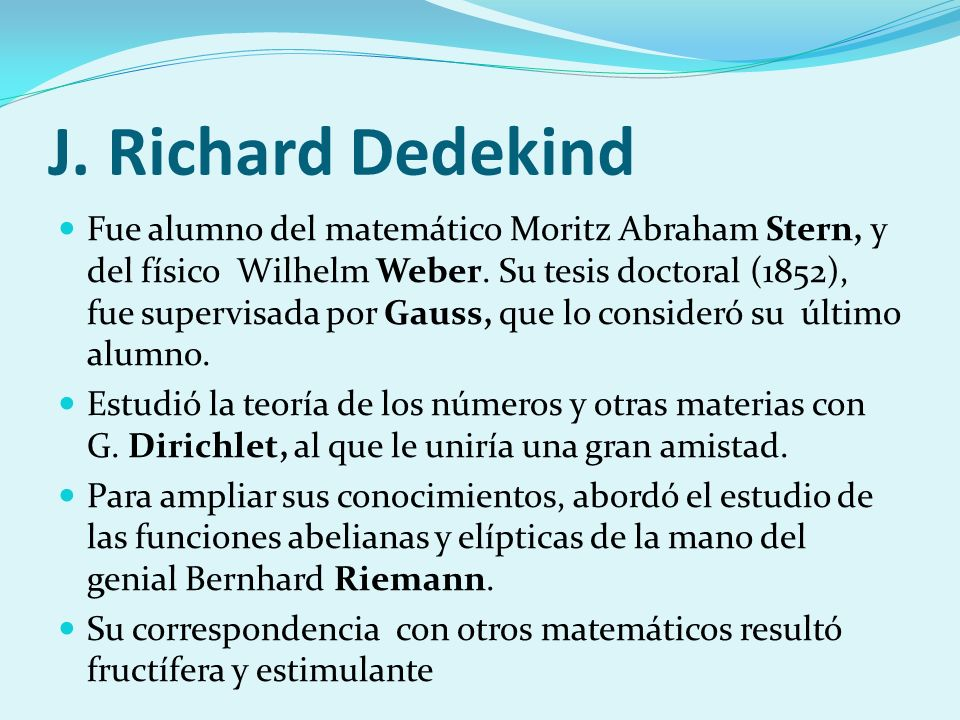 J. Richard Dedekind