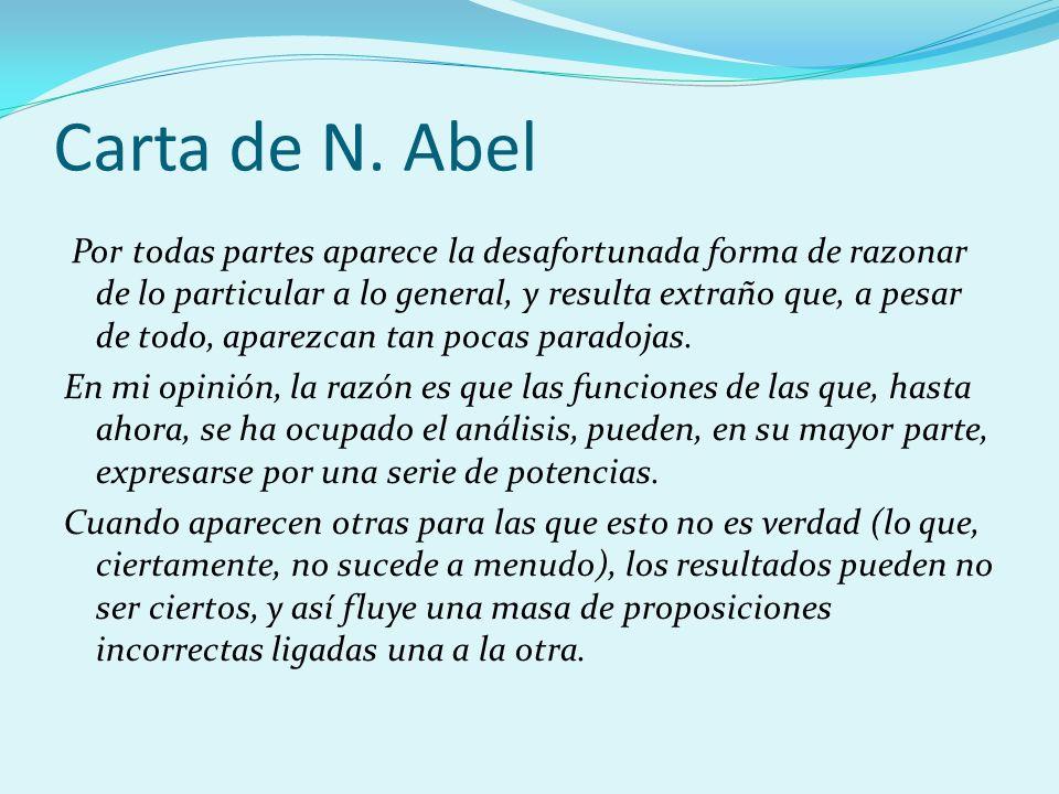Carta de N. Abel