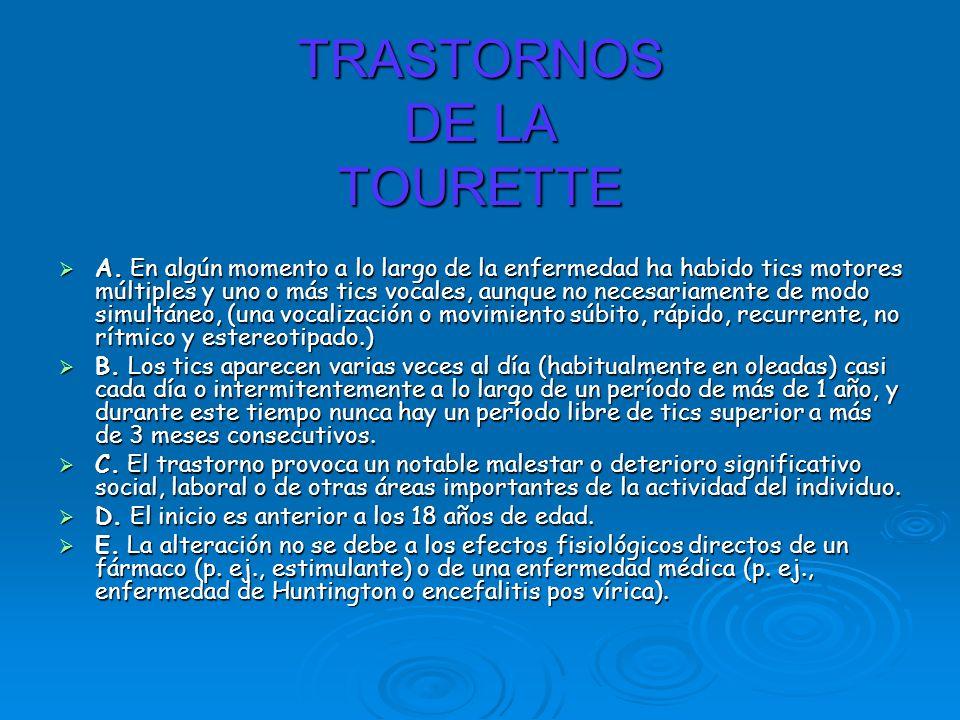 TRASTORNOS DE LA TOURETTE