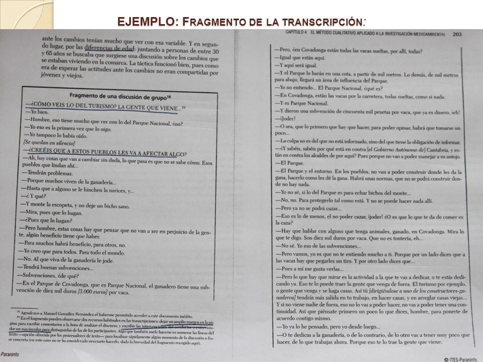EJEMPLO: Fragmento de la transcripción: pag 202-206.