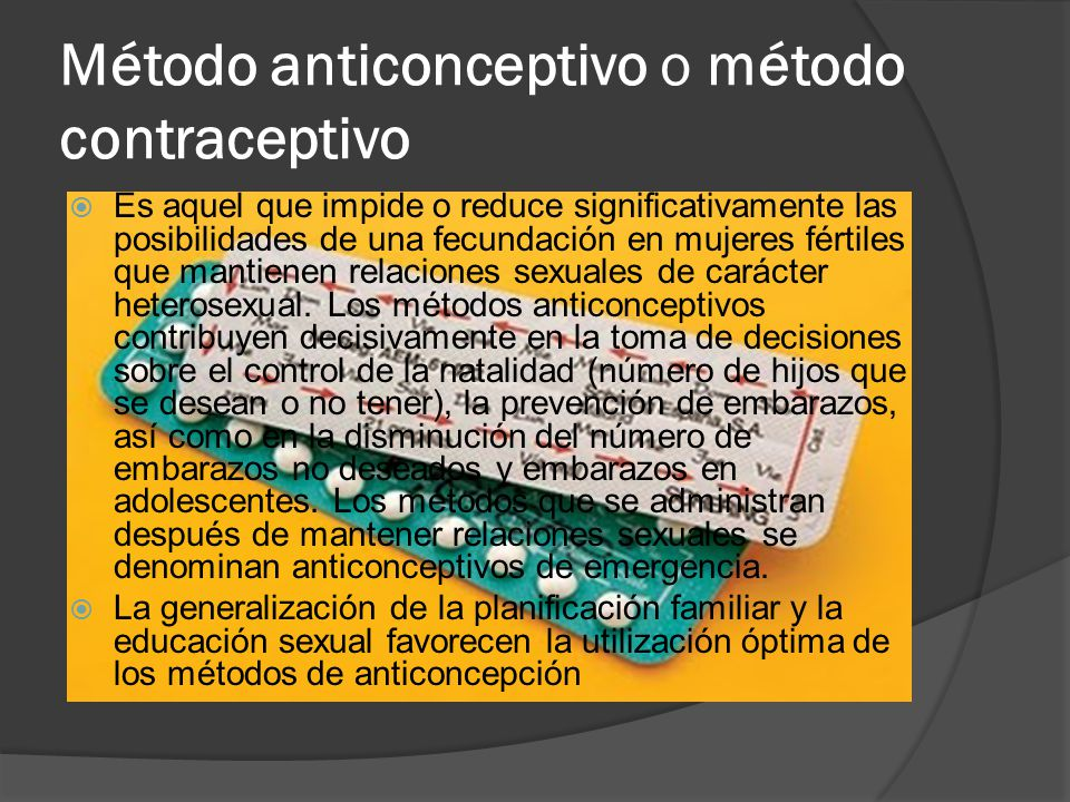 Anticoncepcin - Wikipedia, la enciclopedia libre