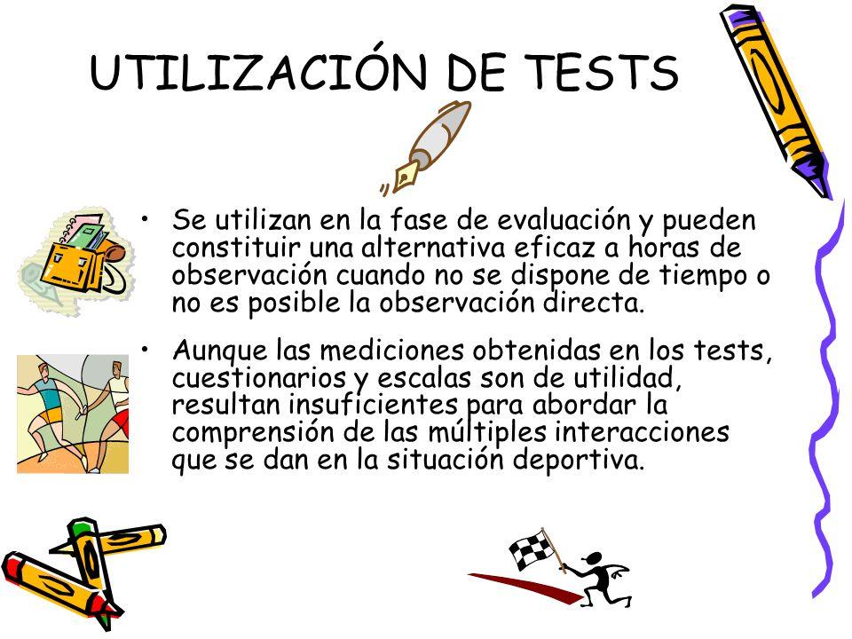 UTILIZACIÓN DE TESTS