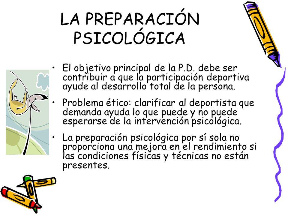 LA PREPARACIÓN PSICOLÓGICA