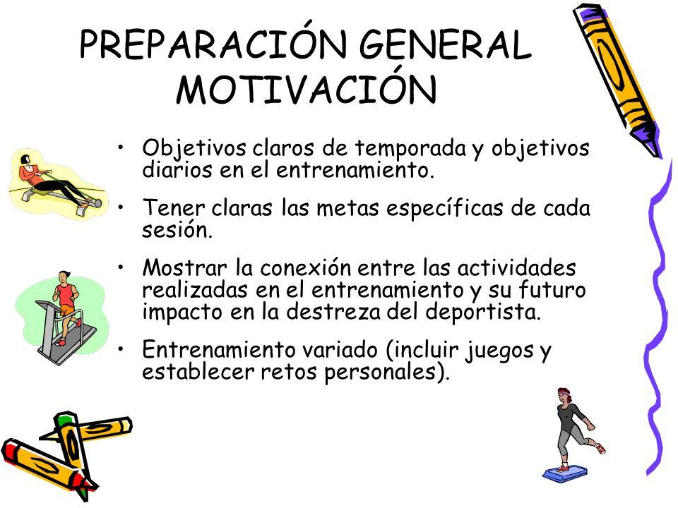 PREPARACIÓN GENERAL MOTIVACIÓN