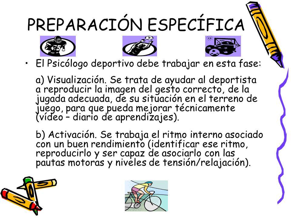 PREPARACIÓN ESPECÍFICA