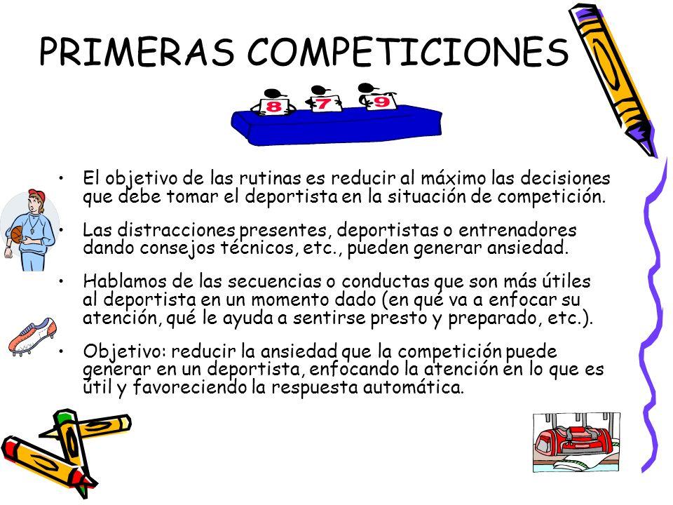 PRIMERAS COMPETICIONES