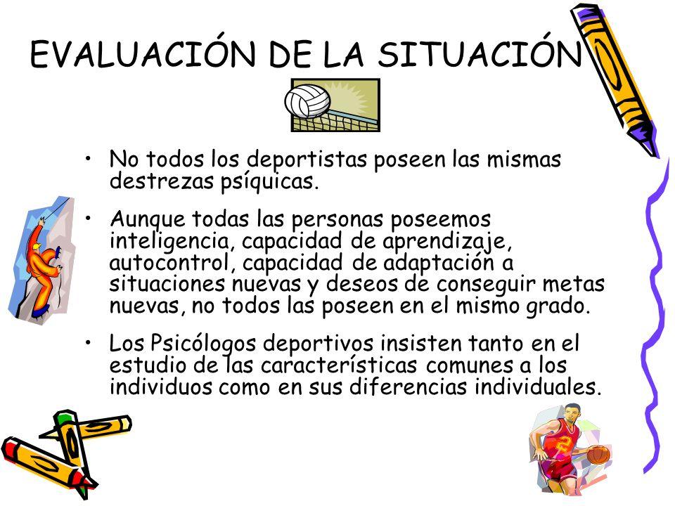 EVALUACIÓN DE LA SITUACIÓN