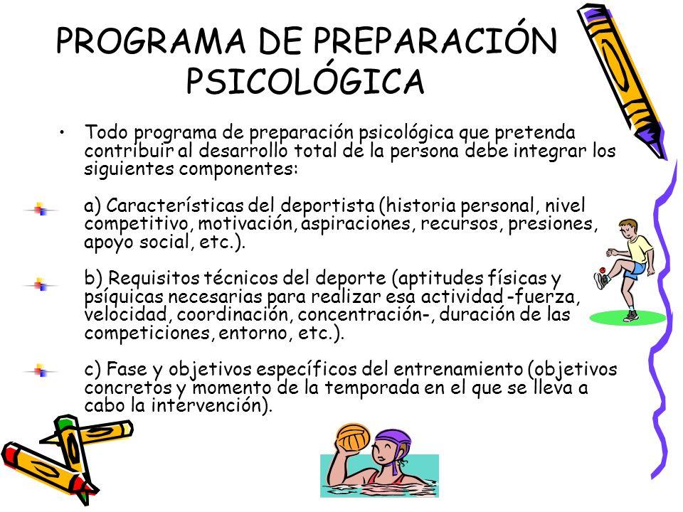 PROGRAMA DE PREPARACIÓN PSICOLÓGICA