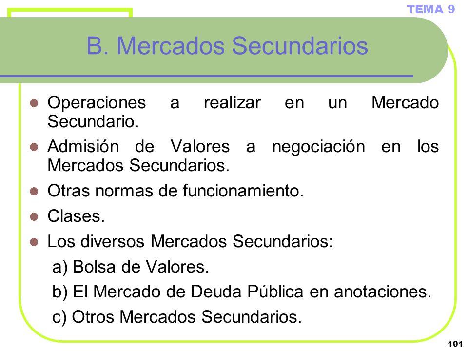 B. Mercados Secundarios
