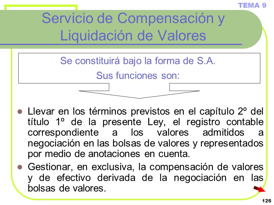 Servicio de Compensación y Liquidación de Valores