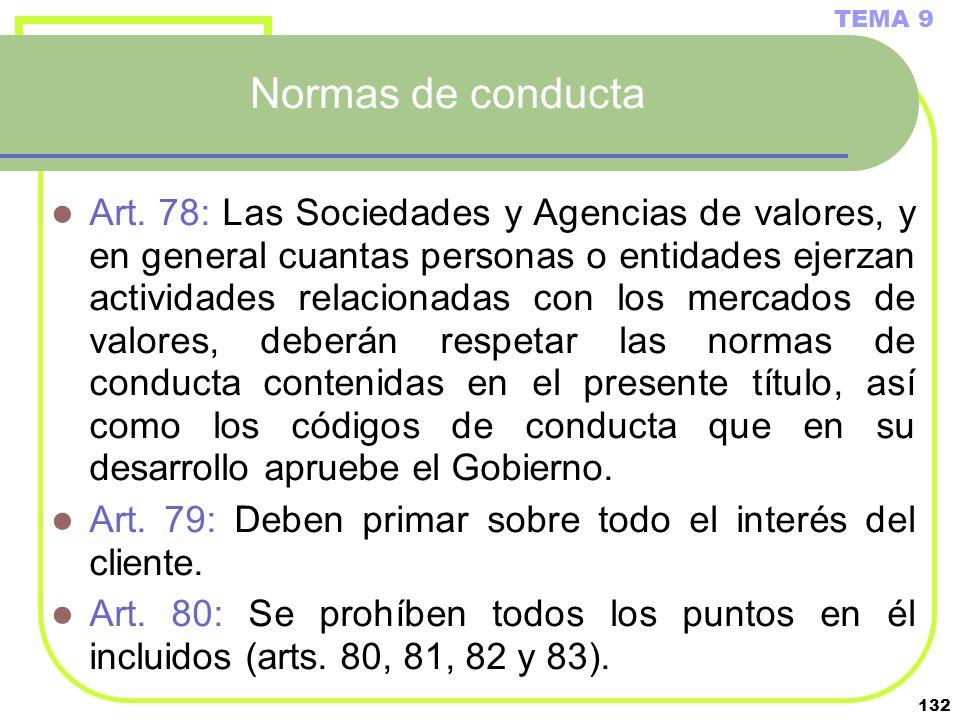 TEMA 9 Normas de conducta.
