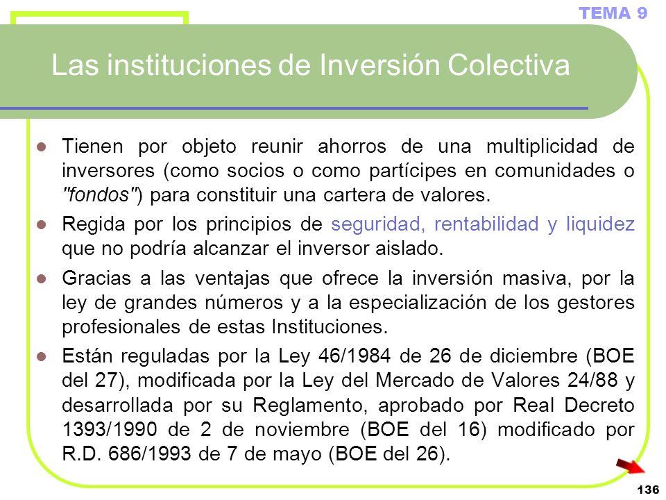 Las instituciones de Inversión Colectiva