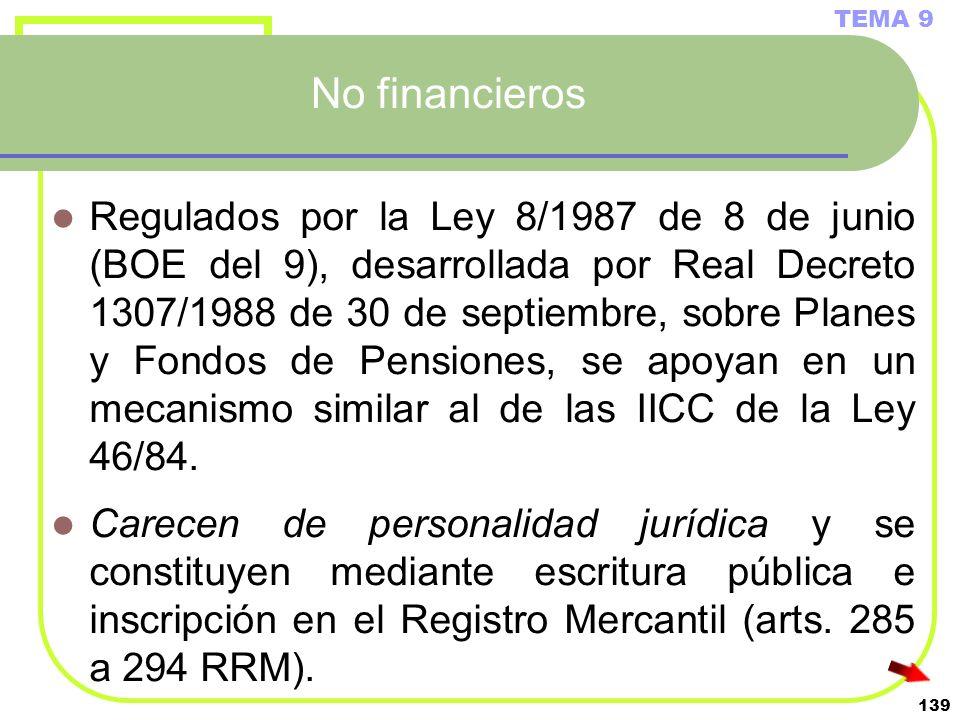 TEMA 9No financieros.