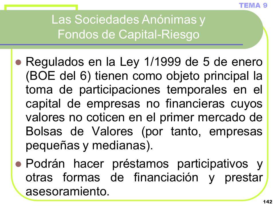 Las Sociedades Anónimas y Fondos de Capital-Riesgo
