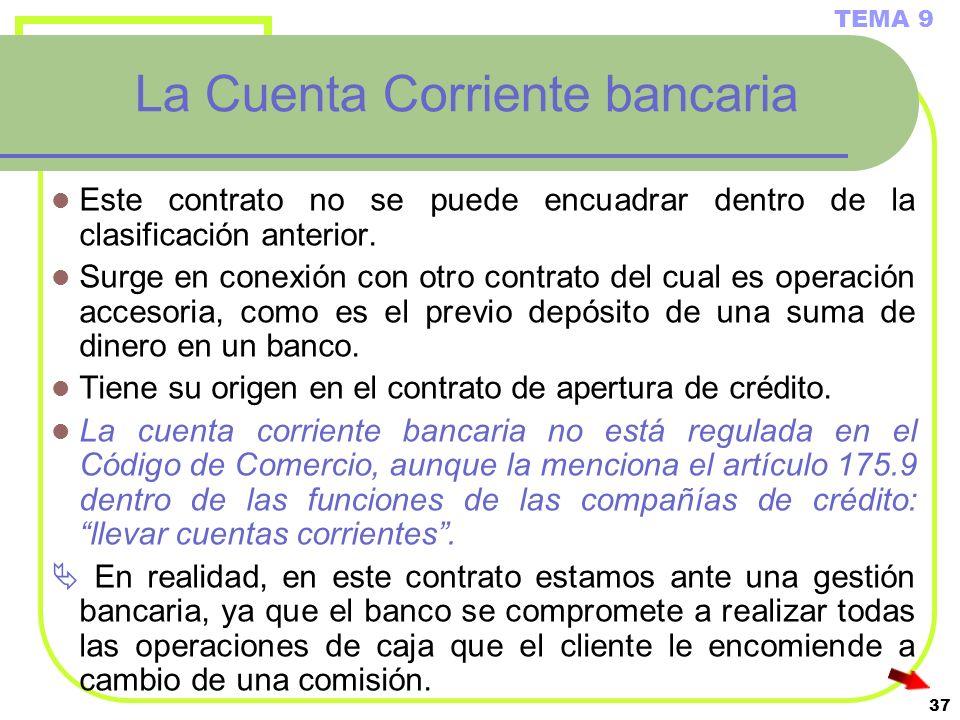 La Cuenta Corriente bancaria