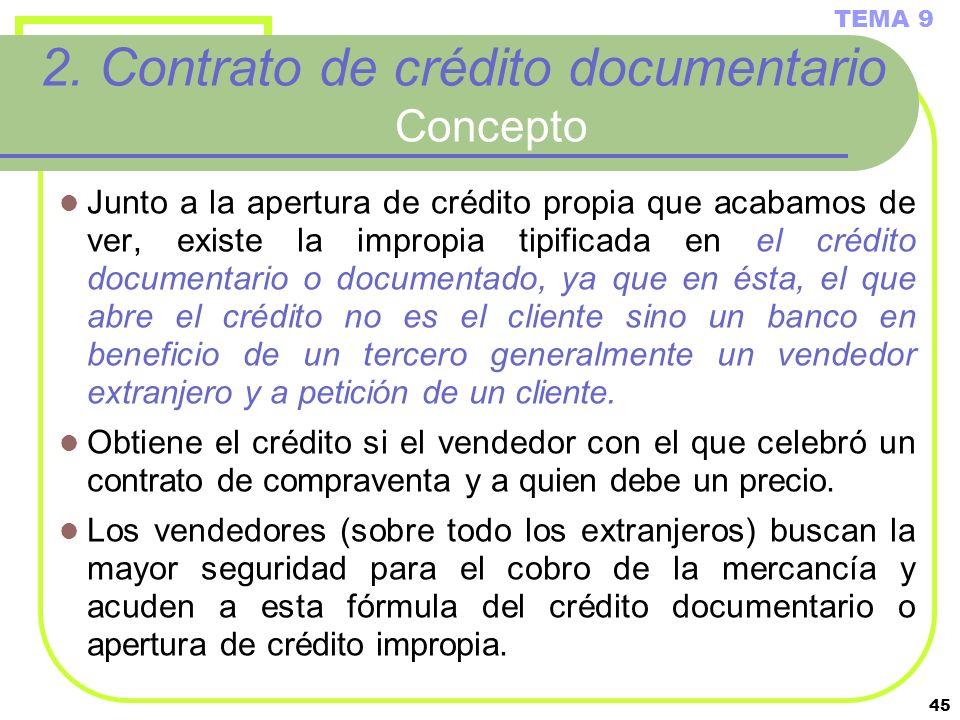 2. Contrato de crédito documentario Concepto