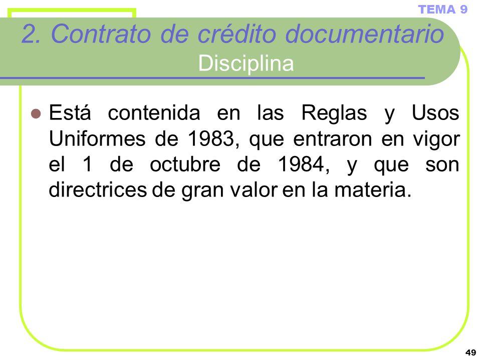 2. Contrato de crédito documentario Disciplina