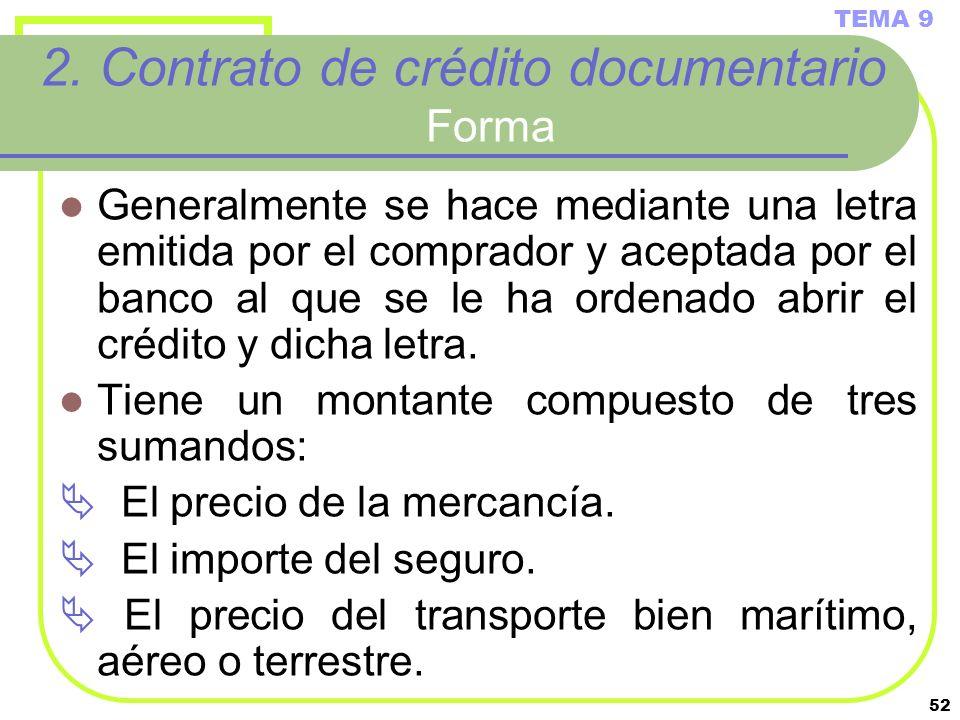 2. Contrato de crédito documentario Forma