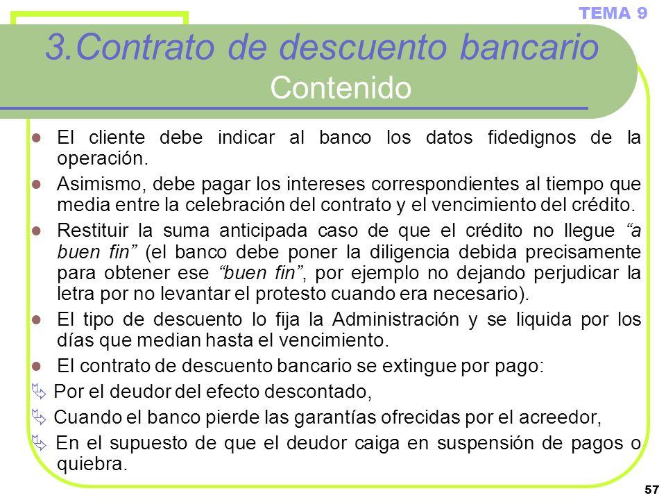 3.Contrato de descuento bancario Contenido