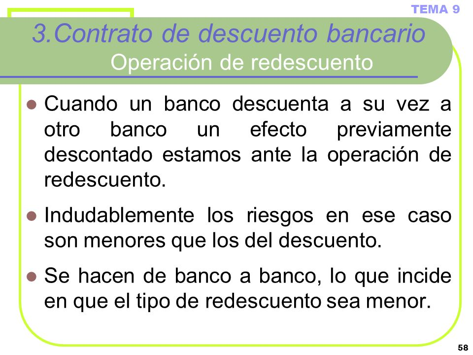 3.Contrato de descuento bancario Operación de redescuento