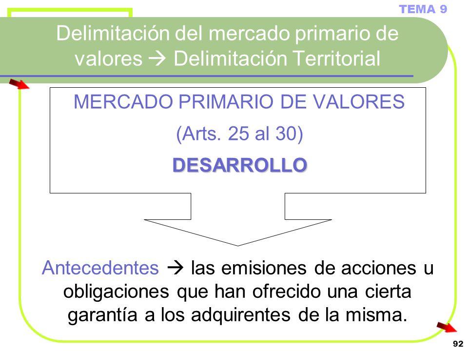 MERCADO PRIMARIO DE VALORES