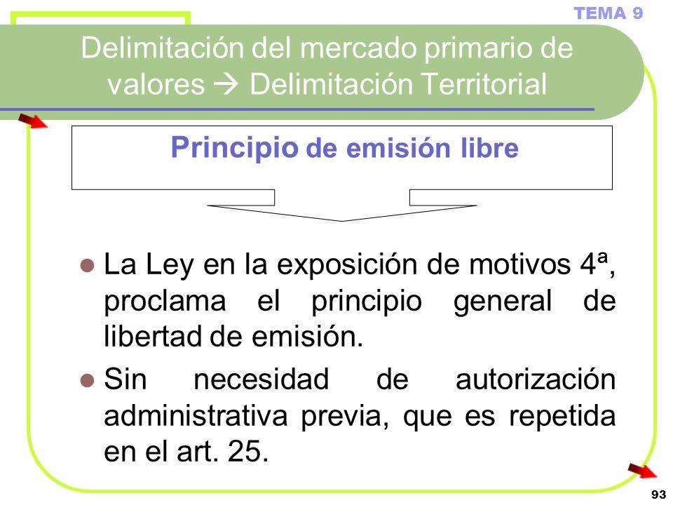 Principio de emisión libre