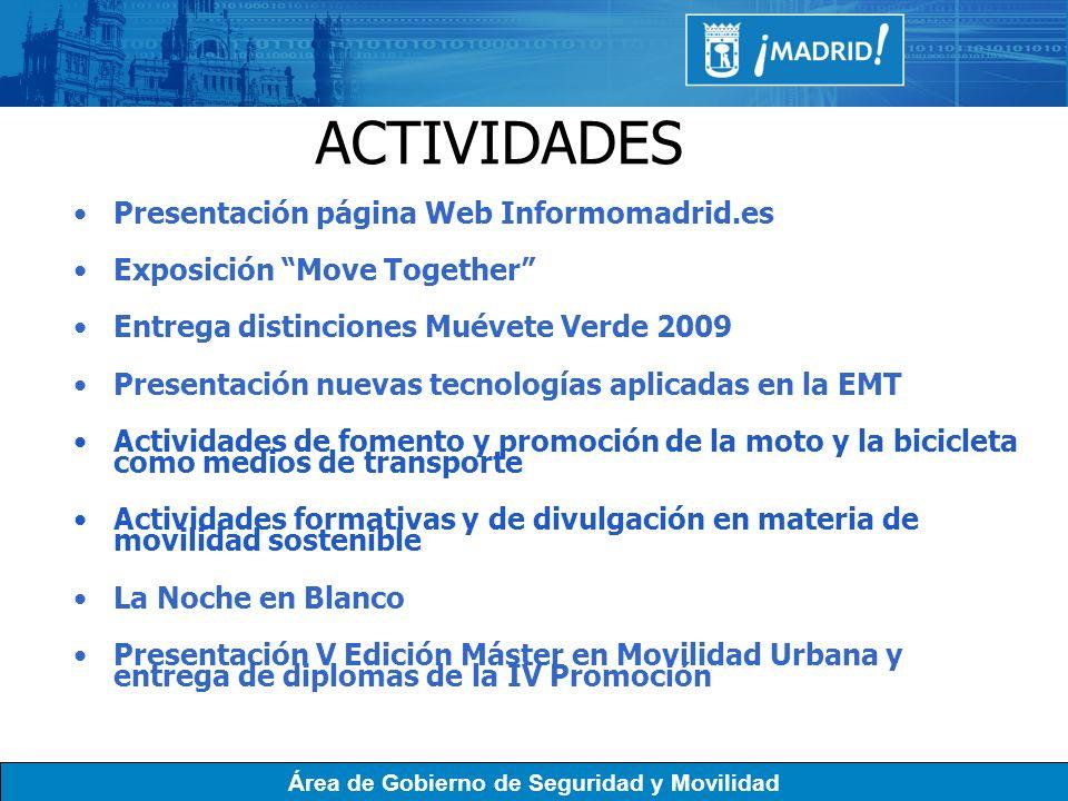 ACTIVIDADES Presentación página Web Informomadrid.es