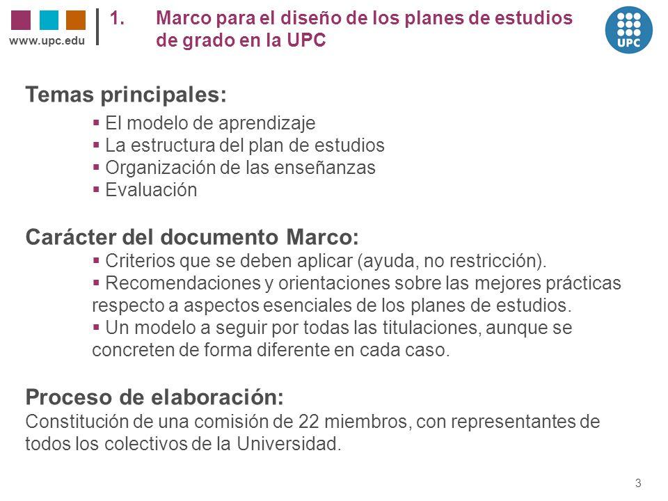 Carácter del documento Marco: