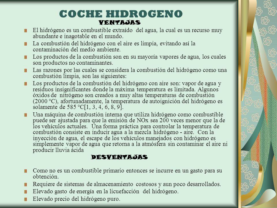 COCHE HIDROGENO VENTAJAS