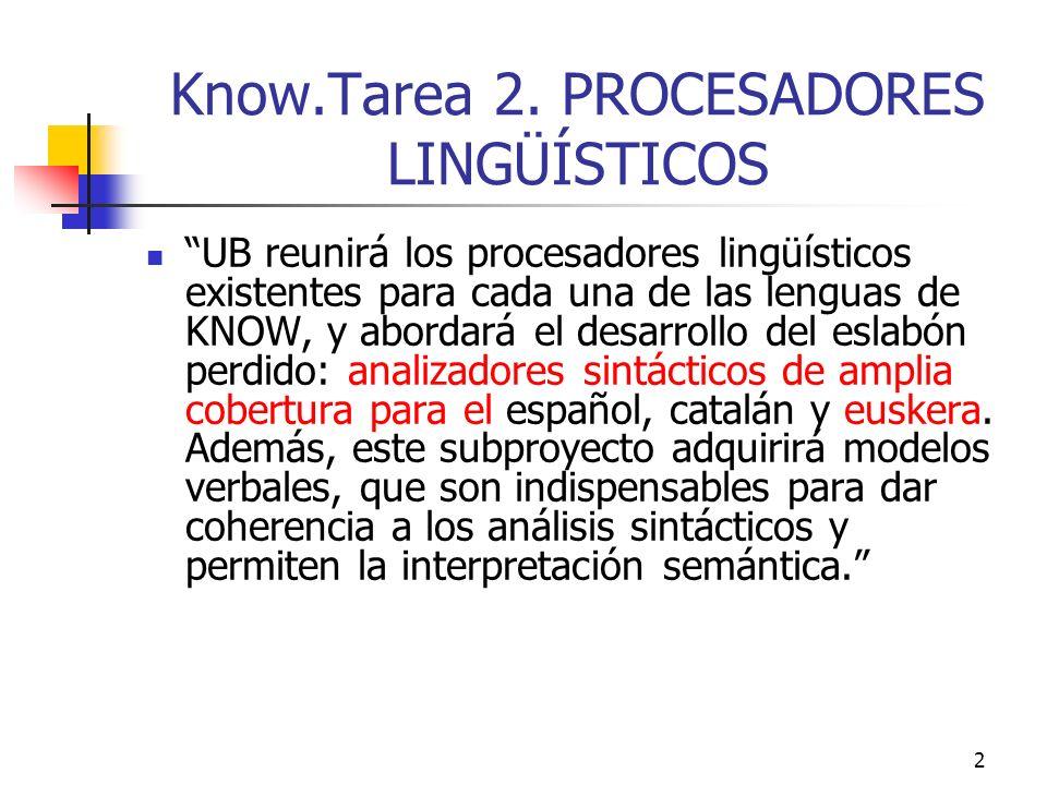 Know.Tarea 2. PROCESADORES LINGÜÍSTICOS