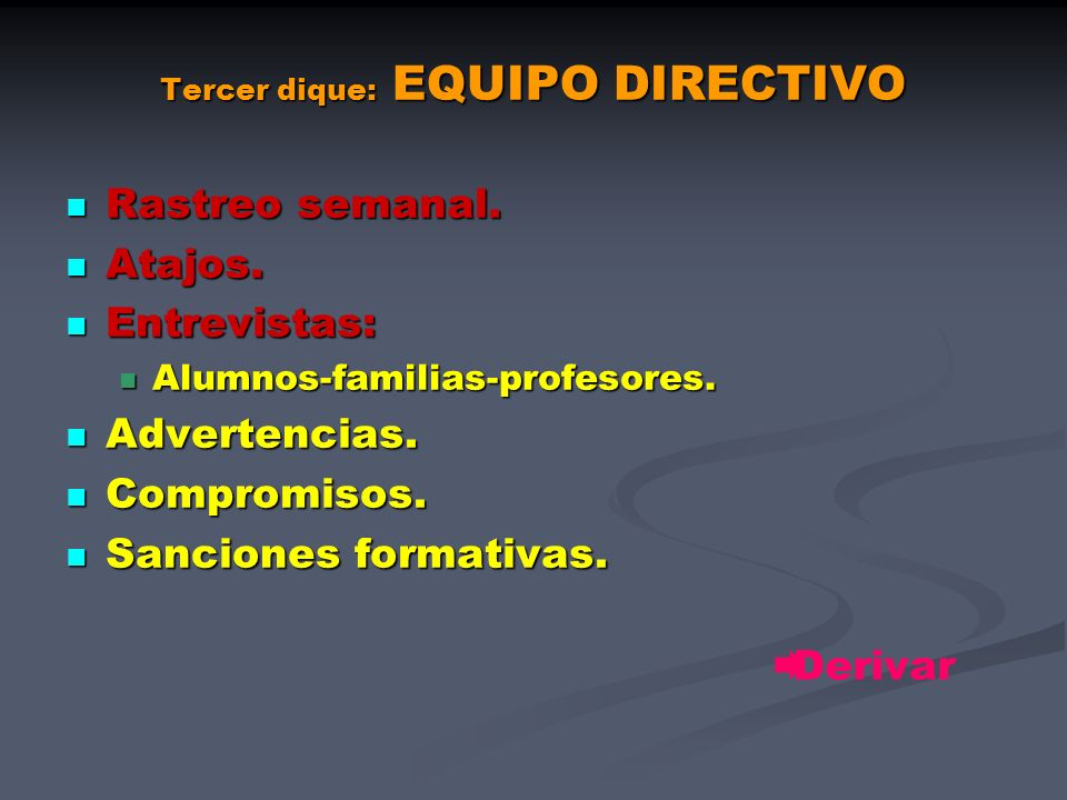 Tercer dique: EQUIPO DIRECTIVO