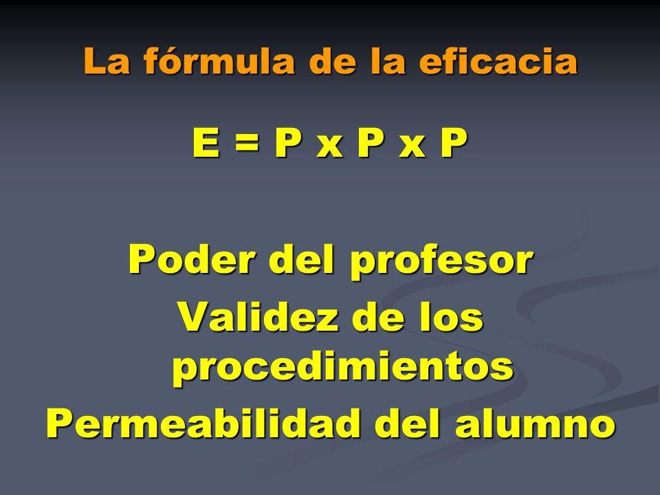 La fórmula de la eficacia