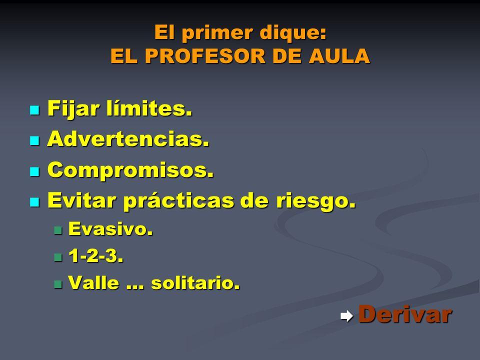 El primer dique: EL PROFESOR DE AULA