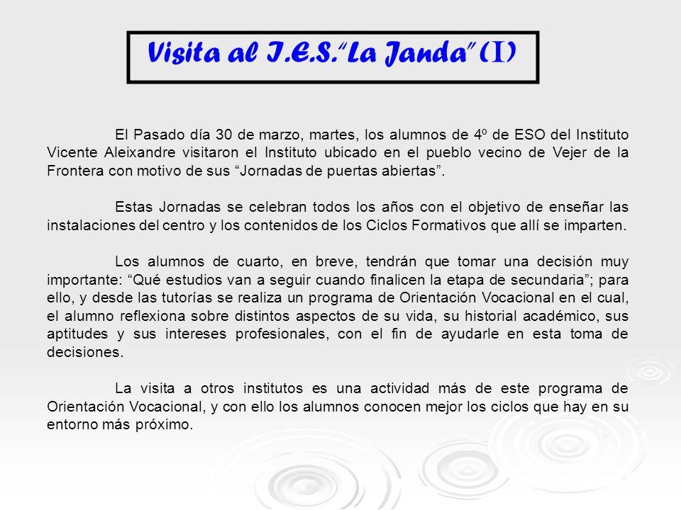 Visita al I.E.S. La Janda (I)