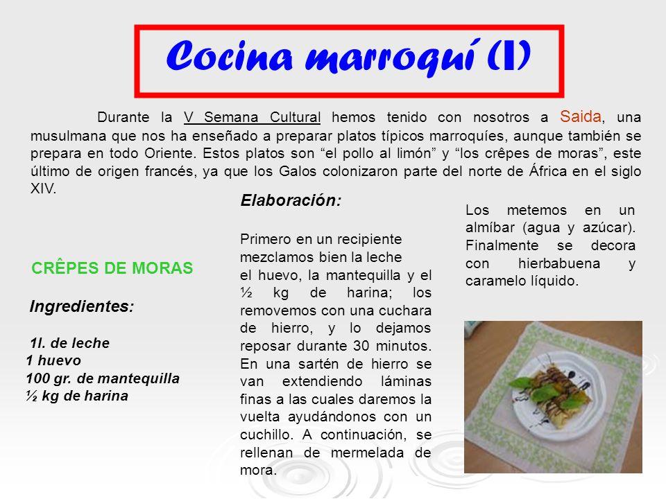 Cocina marroquí (I) Elaboración: CRÊPES DE MORAS