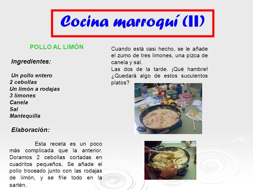 Cocina marroquí (II) POLLO AL LIMÓN